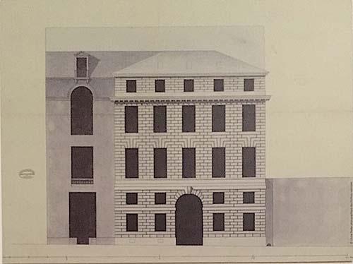 L'hôtel Lebrun - Elévation de la façade sur la rue du Sentier