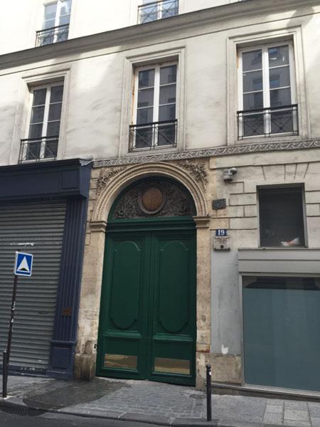 L'hôtel de Lubert, rue de Cléry. L'immeuble a été profondément modifié au XIXe siècle