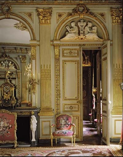 L'hôtel de la Vaupalière - Porte, dessus de porte et boiseries Louis XVI