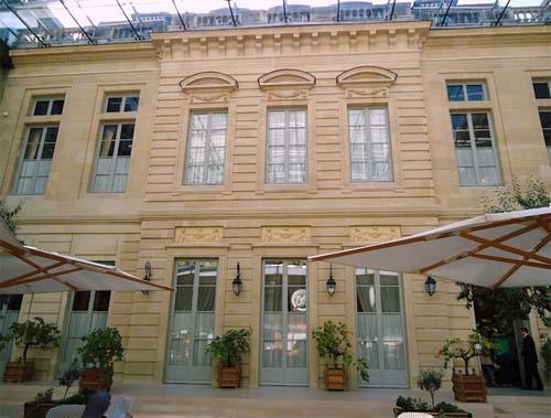 L'hôtel de la Vaupalière - La façade donnant sur la cour formant aujourd'hui un atrium