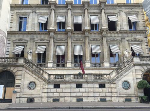 L'hôtel Collot - La façade sur le quai Anatole France