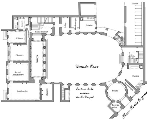 L'hôtel d'Evreux - Plan du rez-de-chaussée