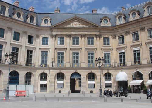 L'hôtel d'Evreux - La façade sur la place Vendôme