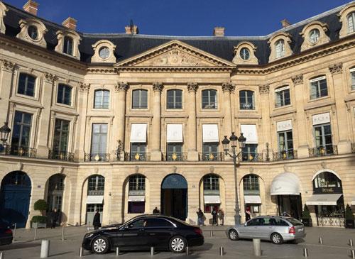 L'hôtel d'Evreux : la façade sur la place Vendôme