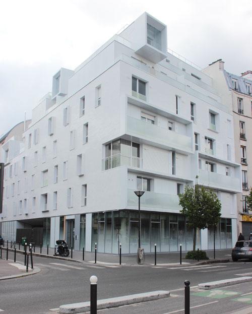Logements sociaux rue d'Aubervilliers - Angle rue Paul Laurent et rue d'Aubervilliers