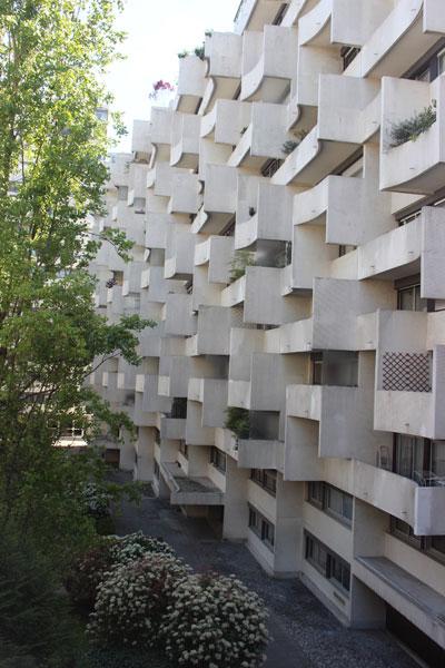 Immeuble de logements rue de Vaugirard - Façade du volume donnant sur la Petite Ceinture