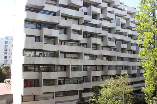Ensemble de logements rue de Vaugirard - Façade du volume longeant la Petite ceinture