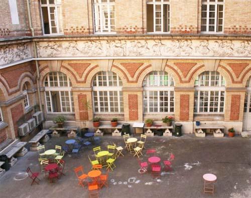 L'école Duperré - La cour intérieure