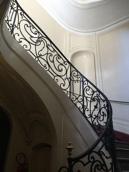 L'hôtel d'Osmont - La cage d'escalier