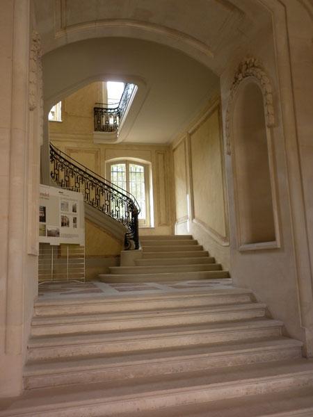L'hôtel de Wendel - L'escalier d'honneur qui mène à
