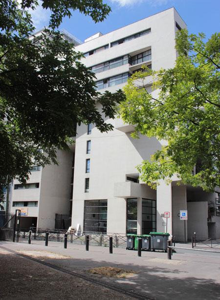 Immeuble-villa allée Marc Chagall - La façade sur la rue Gandon