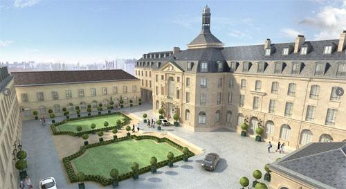 L'abbaye de Pentemont et la caserne du XIXe siècle : le nouveau siège de la maison de couture Yves Saint-Laurent (image du projet)