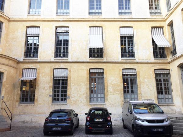 L'hôtel de Croisilles : la façade sur cour