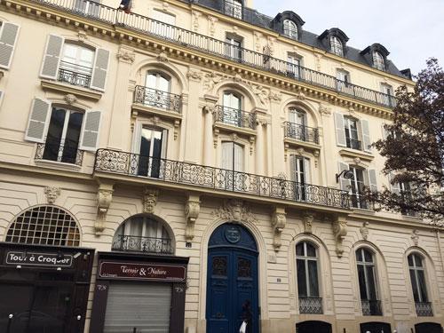 L'hôtel Halévy - La façade principale sur la rue de Douai