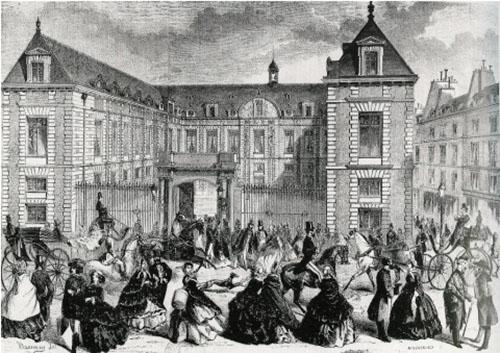 L'hôtel Tubœuf en 1858