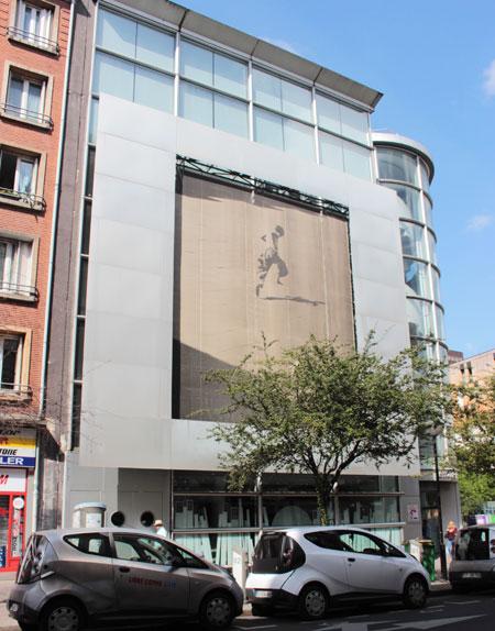 La médiathèque Jean-Pierre Melville - Façade sur la rue Nationale