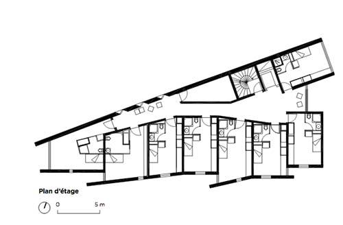 Résidence étudiante Julia Bartet : plan d'un étage