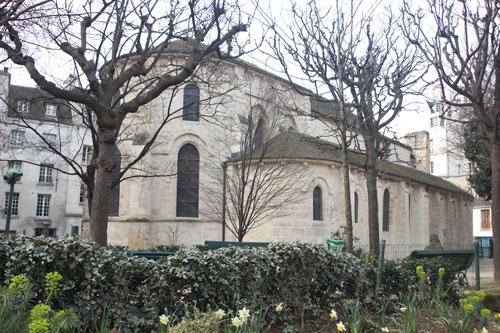 Eglise Saint-Julien-le-pauvre - Vue du chevet