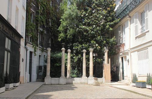 Vestiges de l'ancien cimetière protestant