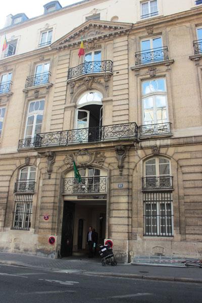 Le grand hôtel de Montmorency - La façade sur la rue