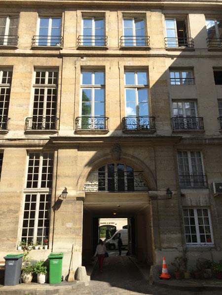 Le grand hôtel de Montmorency - La façade sur le jardin