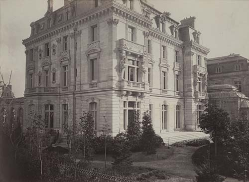 L'hôtel Abraham-Béhor de Camondo - La façade sur le jardin