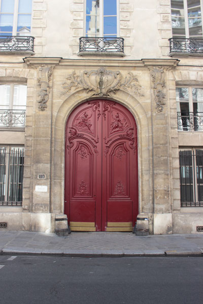 L'hôtel d'Hozier - Le magnifique portail refait au XVIIIe siècle