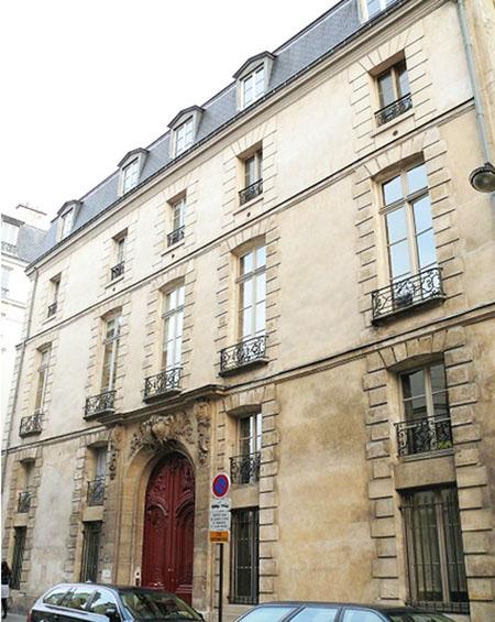 L'hôtel d'Hozier - La façade sur la rue