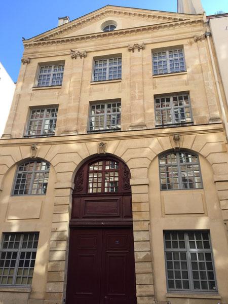 L'imprimerie royale de musique : le bâtiment sur rue