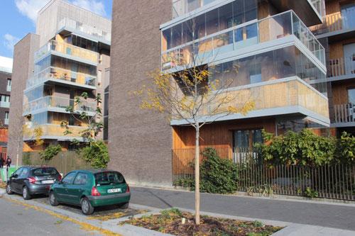 Logements Rue Jorge Semprun - Les jardins d'hiver au 1er plan