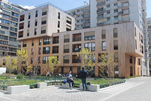 L'immeuble constitué de 24 logements sociaux et d'une résidence sociale