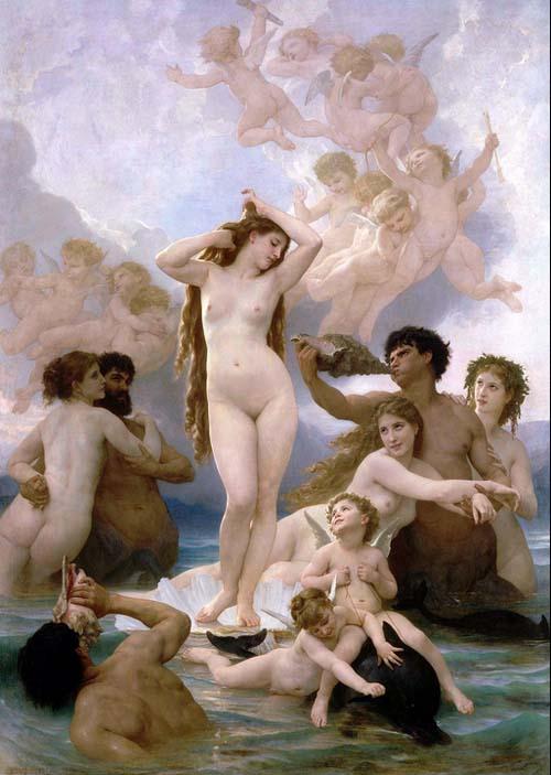 La naissance de Vénus (1879) par William-Adolphe Bouguereau - Musée d'Orsay