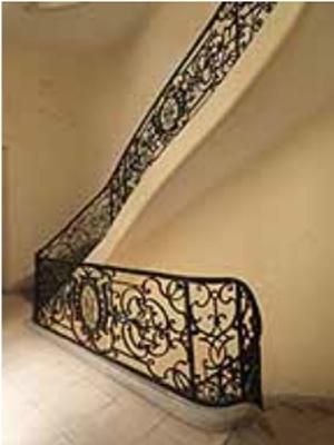 L'hôtel d'Hozier : la rampe d'escalier