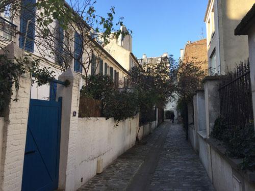 La villa de l'Adour - Le charme des ruelles pavées qui cheminent entre deux rangées de pavillons