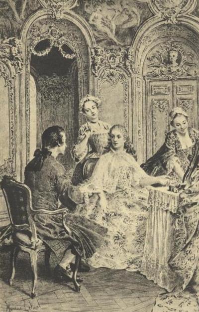 Jean-Jacques Rousseau présenté à Mme Dupin