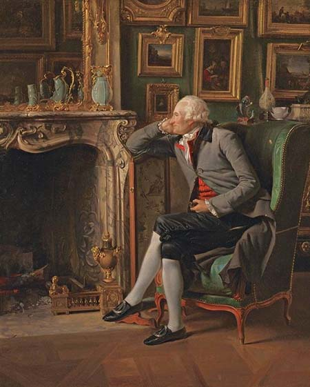 Le baron de Besenval dans son salon de compagnie
