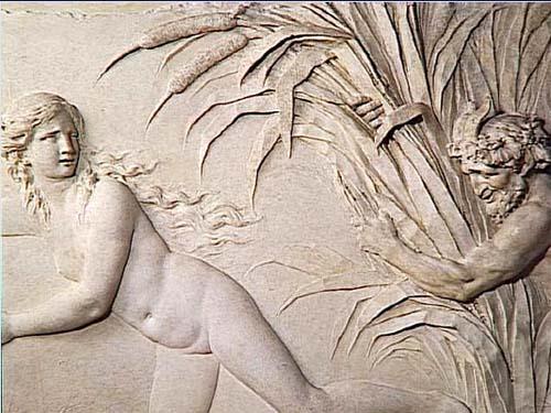 L'hôtel de Besenval - Panneau de la salle de bain par Clodion (musée du Louvre)