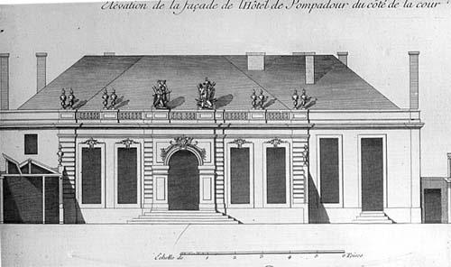 L'hôtel Chanac de Pompadour - Elévation d'origine