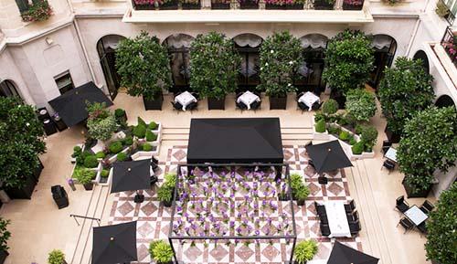 L'hôtel Georges V : le jardin intérieur