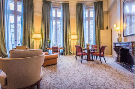 L'hôtel Scribe - Un des anciens salons du Jockey Club