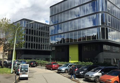 Institut du Cerveau et de la Mœlle épinière - La façade d'entrée