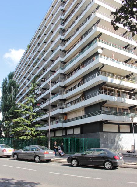 Logements Rue Nationale : l'une des deux barres après modernisation