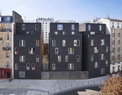 Résidence étudiante Pajol - La façade sur rue