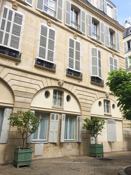 L'hôtel de Salm-Dyck : l'aile située dans la cour