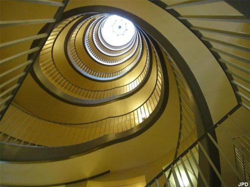 L'escalier à doublé hélice