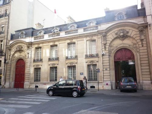 Le bâtiment sur rue est le seul vestige de l'hôtel Pillet-Will