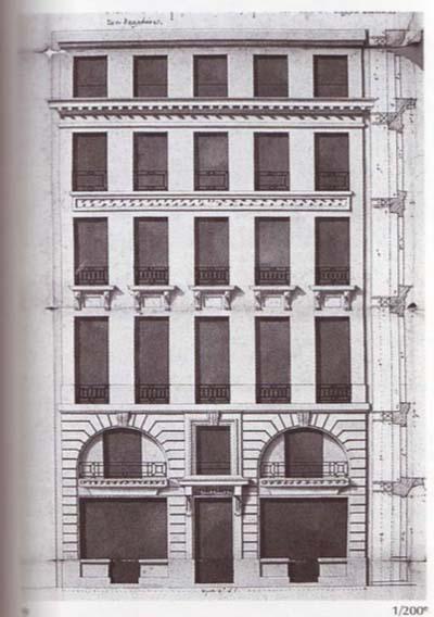 La maison Chopin d'Arnouville : élévation de la façade sur la rue