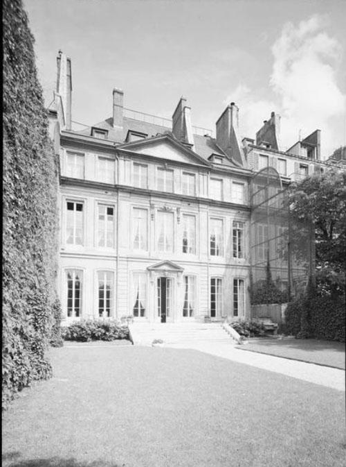 L'hôtel du n°118 - La façade sur le jardin