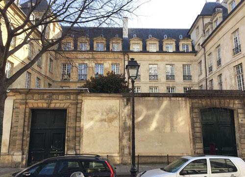 L'hôtel Le Peletier de Souzy et l'hôtel Tallemant vus de la rue