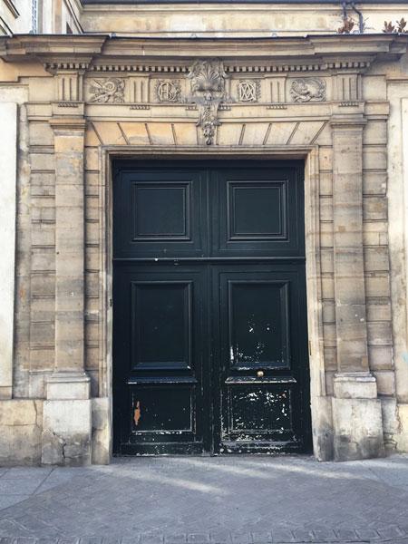 l'hôtel Le Peletier de Souzy - Le portail
